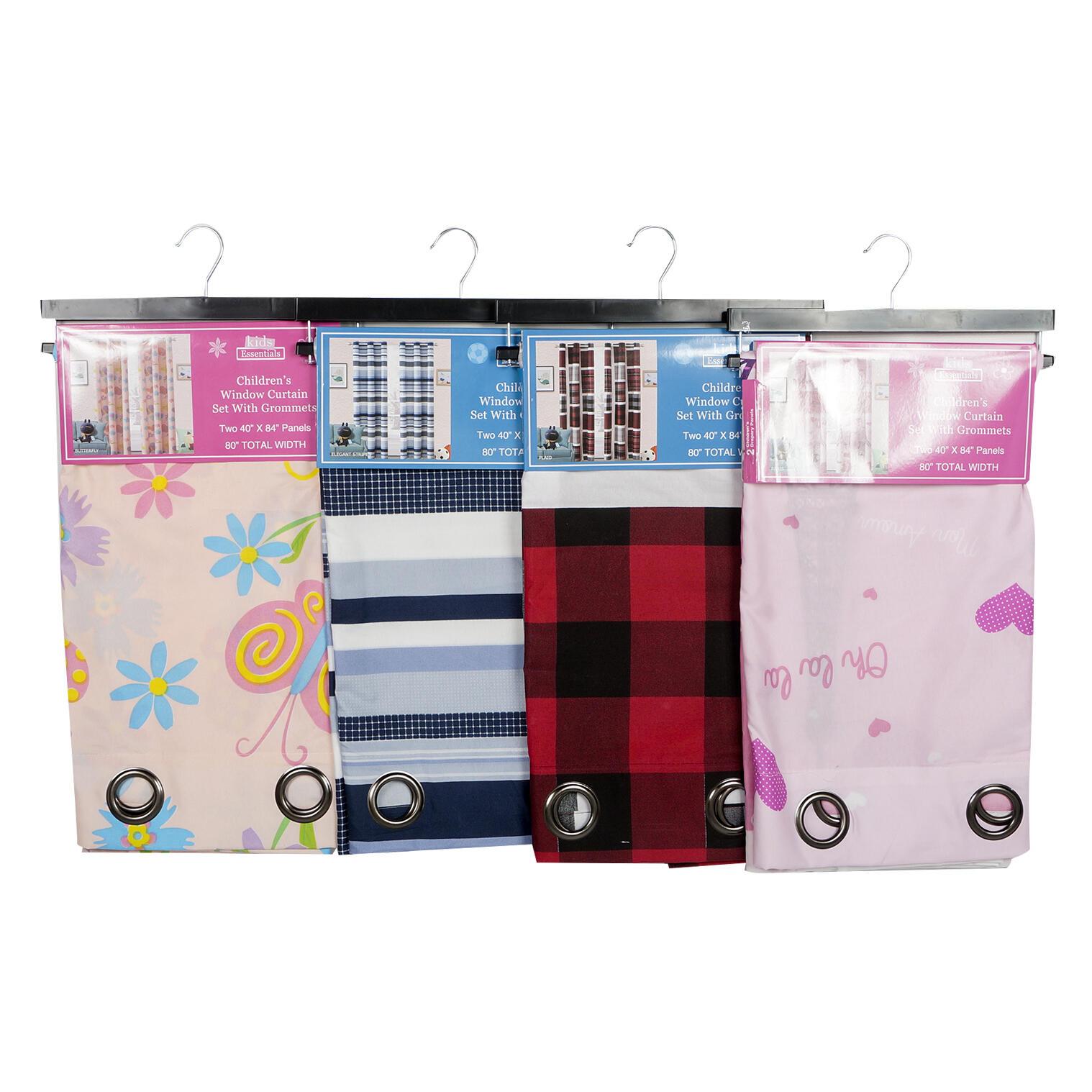 Wholesale Children's Window Curtain Set With Grommets