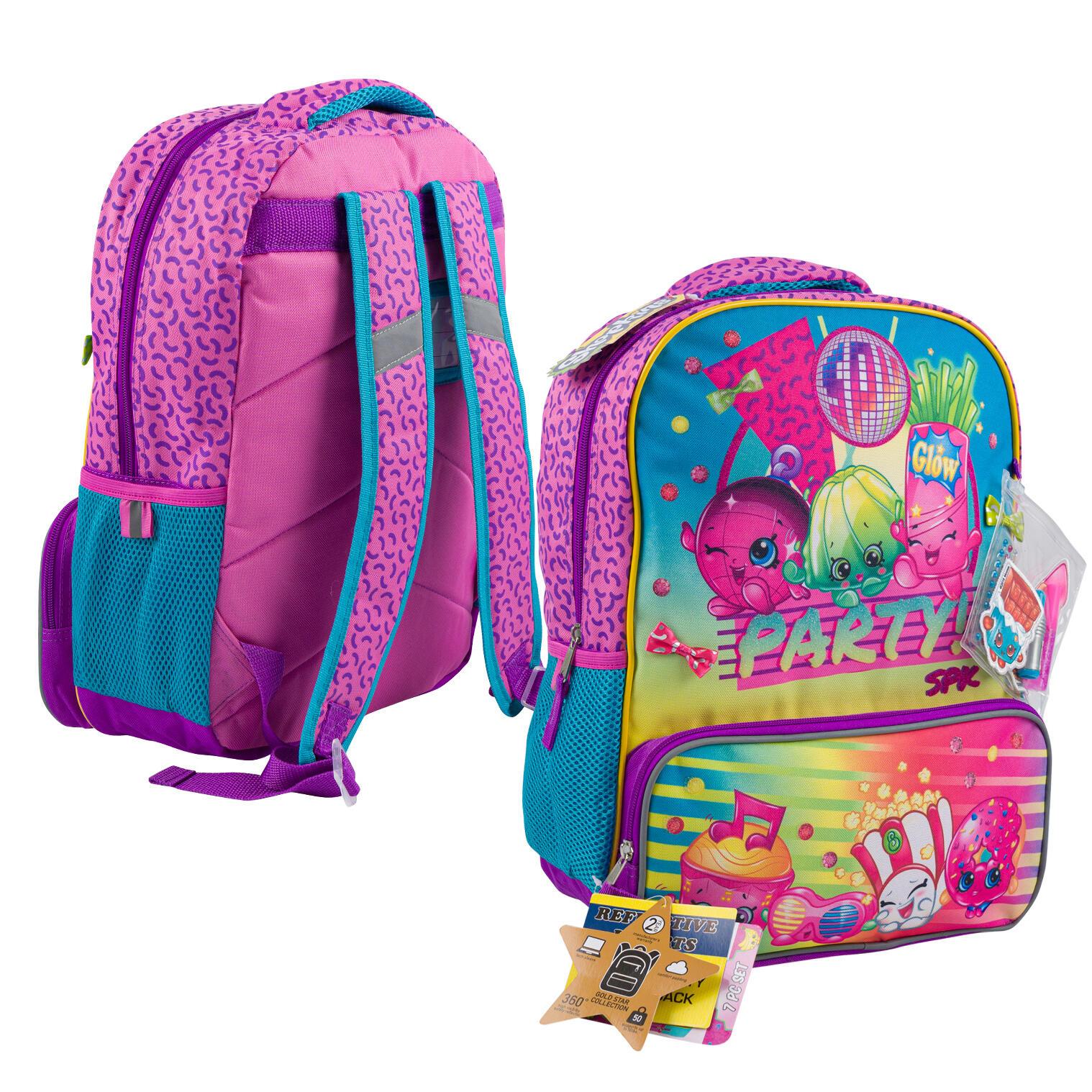 Wholesale 7 Piece Shopkins Backpack Set Multicolor