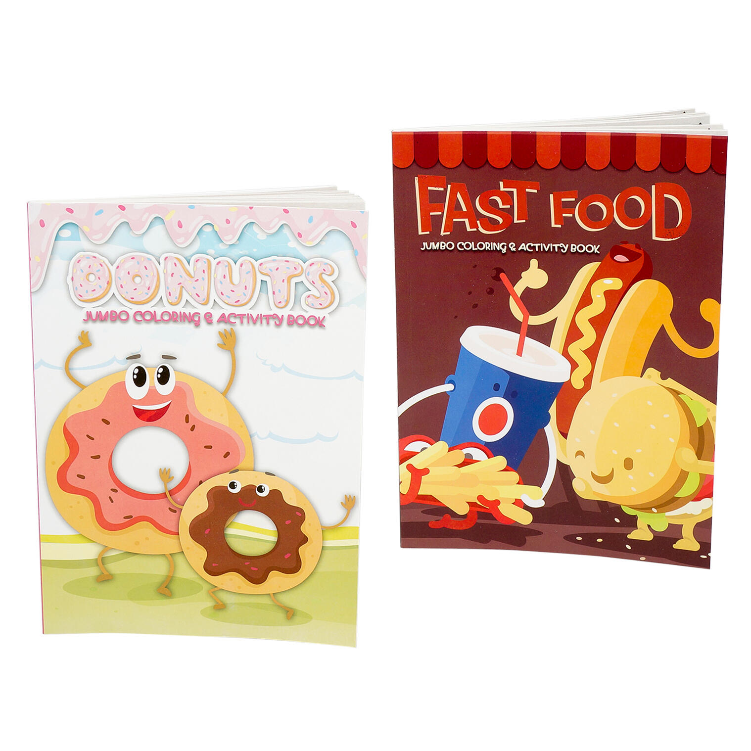 Wholesale Fast Food Donuts Jumbo Coloring Activity Book Multicolor