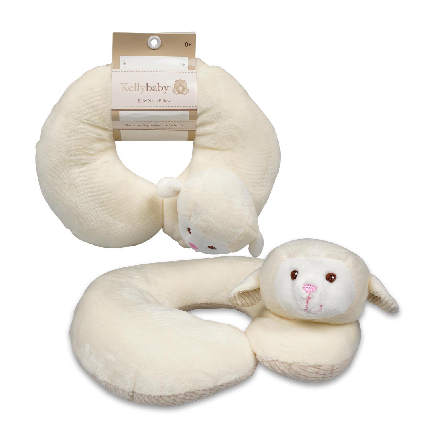 KellyBaby Cream Lamb Baby Travel Neck Pillow