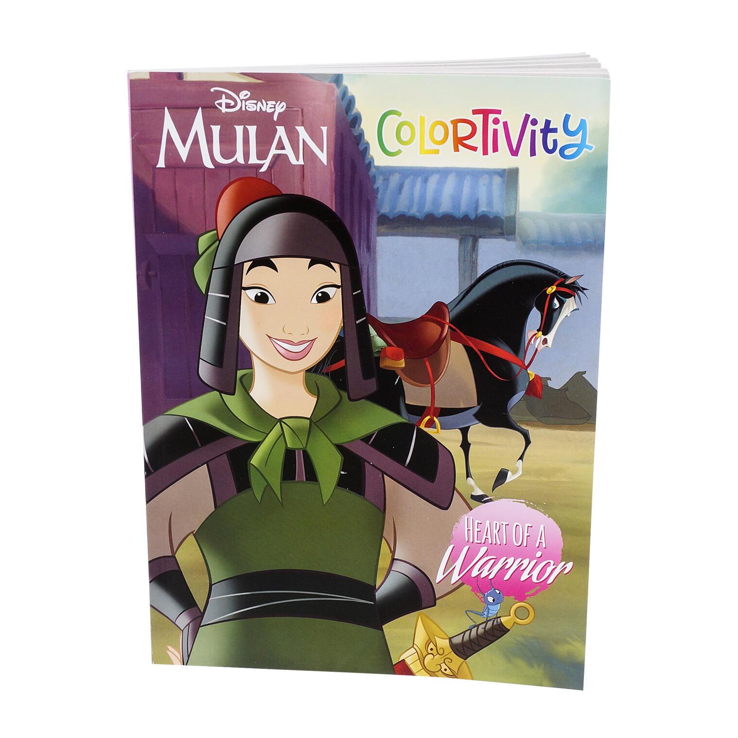 Wholesale 64 Page Mulan Heart Of A Warrior Coloring Book Disney Multicolor