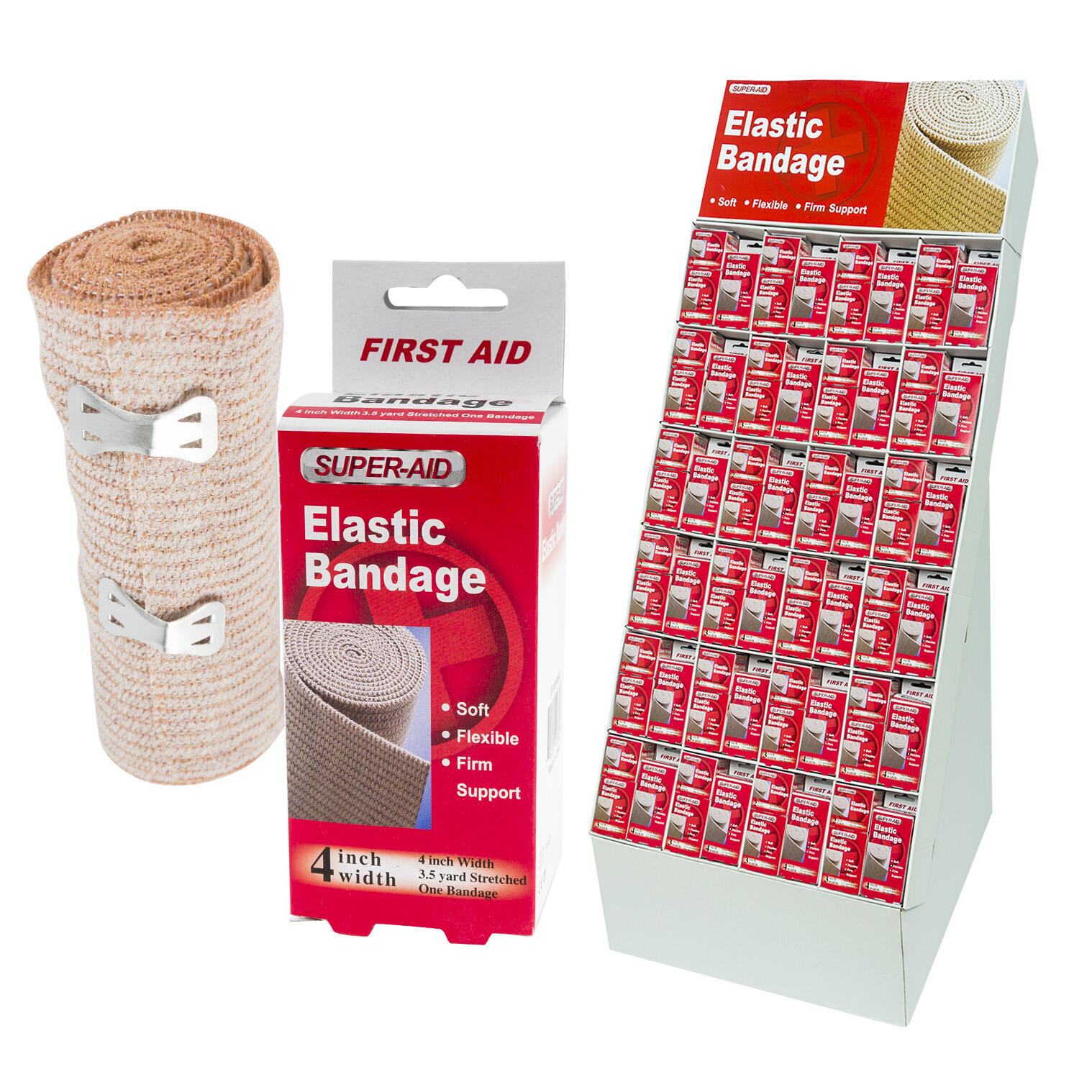 Wholesale Dura Aid Elastic Bandage Display Asst