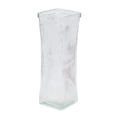 VASE, 8.5''H TAPERsLINES GLASS
