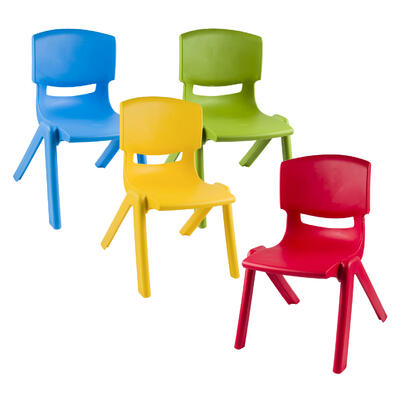 Plastic Kids' CHAIR - Assorted, 21.5''H