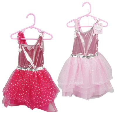 DRESS,SM-MD-LG GIRLS 2ASST/CLR