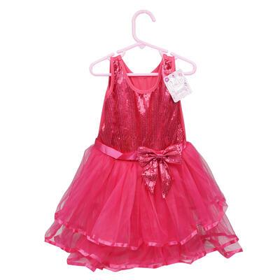 DRESS,LG GIRLS FUSHIA