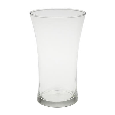 VASE,9'' CLEAR FLARE