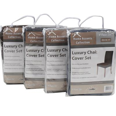 4 Piece Luxury CHAIR Cover Set