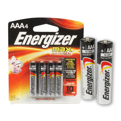 Energizer MAX AAA BATTERIES 4-Pack