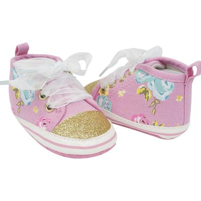 Cutie Pie Pink/Gold Baby SNEAKERS with Shoelaces