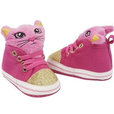 Cutie Pie Pink/Gold SNEAKERS with Cat Face