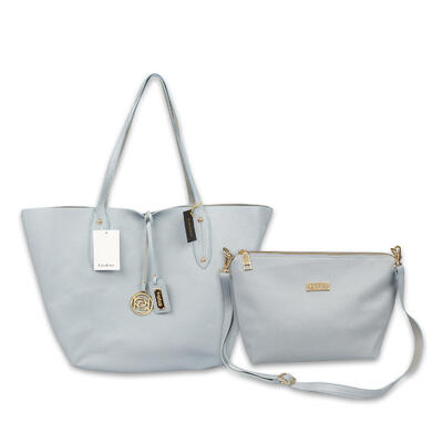 2 in 1 Denim & Grey Bebe TOTE BAG