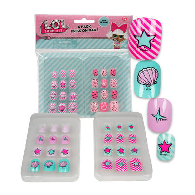 4 Pack LOL Surprise! Clip On NAILS